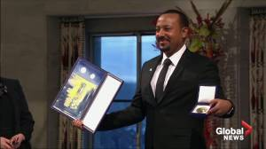 Ethiopia's prime minister receives Nobel Peace Prize