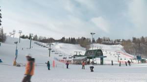 Edmontonians hit the slopes, as warmer temperatures are on the horizon