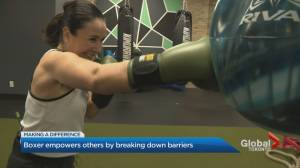 Boxer empowers others in Ontario by breaking down barriers (03:02)