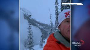 Calgary man runs from avalanche in Rockies