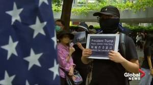 Hong Kong protesters march to U.S. Consulate, call on Trump to 'liberate' city