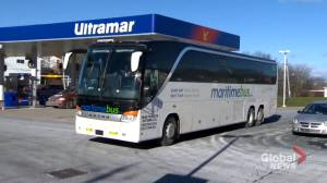 New Brunswick to provide $720,000 in funding to assist struggling Maritime Bus service (02:10)