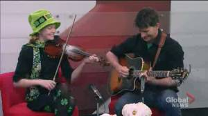 "Music for St. Patrick's Day with fiddle player ""Irish Millie"""