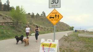Shuttle service possible on Knox Mountain as the City of Kelowna considers closing the road to the top permanently (02:10)