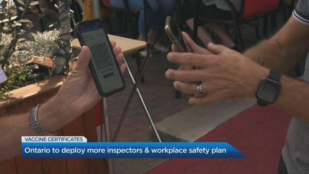 Click to play video: 'Ontario looks to deploy more inspectors to monitor COVID-19 vaccine certificate compliance'