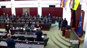 Spring session resumes inside the Alberta legislature (01:42)