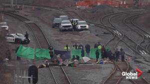Protesters continue to block railway tracks in Hamilton after being served injunction