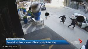 Little boy inches from being struck by bullet during downtown Toronto gunfight