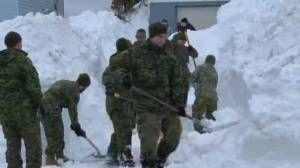 Canadian troops providing crucial help to snow-ravaged NL