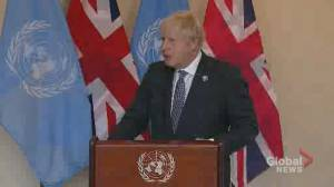 'You can do it': Boris Johnson encourages developing countries to turn away from coal (01:34)