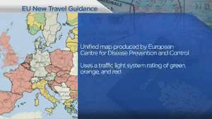 European Union adopt colour coded travel zone map (04:26)