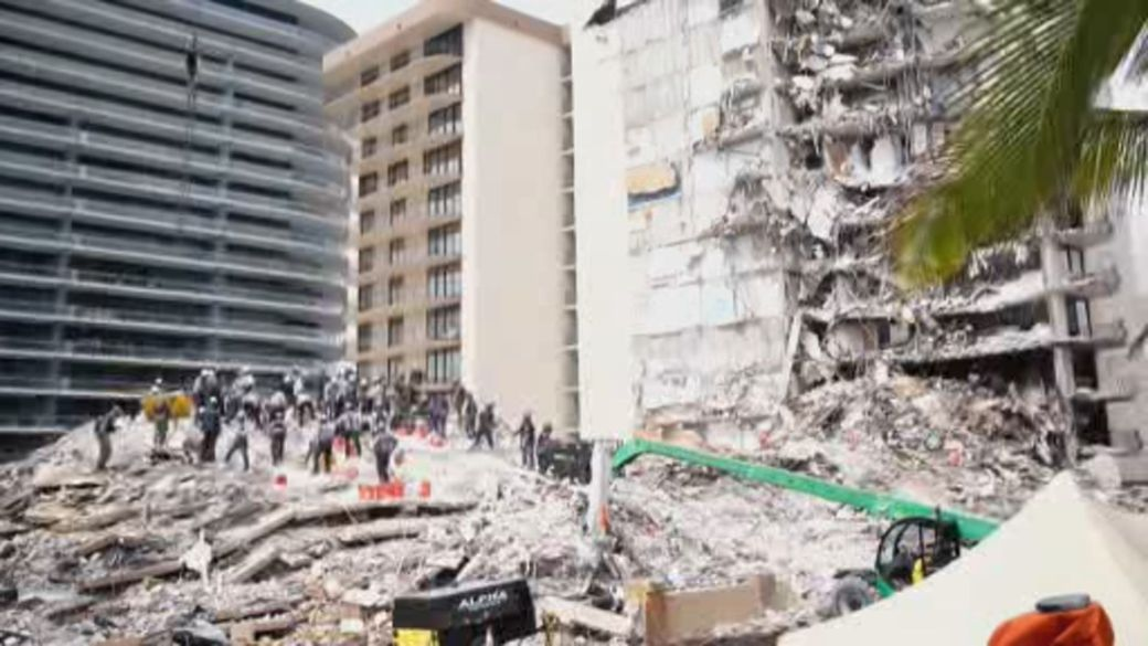 Click to play video: 'Florida condo collapse search efforts taking toll on crews'