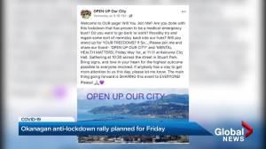 Protest planned in Kelowna over pandemic lockdown