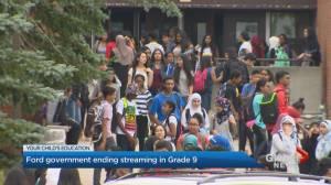 Ontario government ends Grade 9 streaming