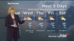 Global News Morning weather forecast: September 14, 2021 (01:05)