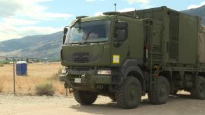 Military personnel redeployed to fight fires in North Okanagan (01:48)