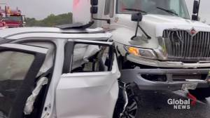 2 injured after chain-reaction collision closes on Hwy. 401 near Port Hope (01:07)