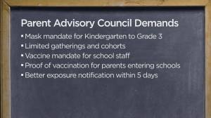 Several B.C. PACs call for enhanced COVID-19 safety measures in schools (02:11)