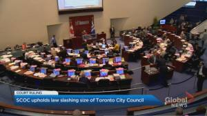 Supreme Court upholds Ontario law that slashed size of Toronto city council (02:21)