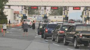Long lines at BC Ferries Friday for people heading to the island (02:14)