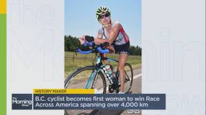B.C. cyclist becomes first woman to win 'Race Across America' (03:25)