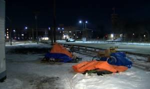 Homeless camp fire in Winnipeg