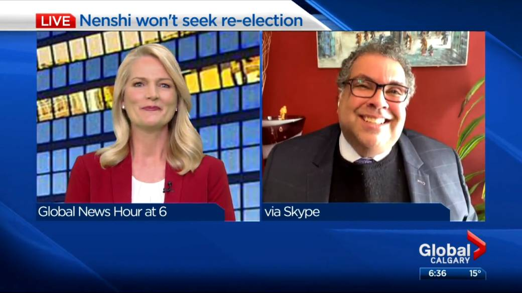 Click to play video: ''This has been a tough choice': Nenshi reflects on time as Calgary mayor'