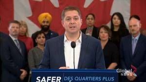 Federal Election 2019: Conservatives would amend Criminal Code to make carrying smuggled firearm punishable by mandatory five-year prison sentence (00:57)