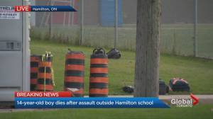 14-year-old dead after assault outside Hamilton high school, police say