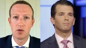 Zuckerberg questioned on Facebook's decision to 'censor' post by Donald Trump Jr…on Twitter (03:37)