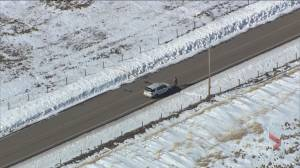 RCMP vehicles seen at scene of major crimes investigation west of Calgary