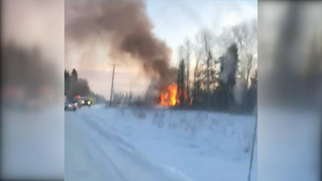 Band office fire in Cumberland House, Sask.