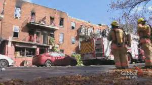 Fire in Montreal apartment building leaves 12 families without a home