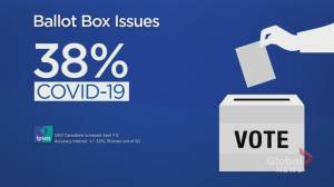 COVID-19 most pressing issue for Canadians ahead of federal election: Ipsos poll (00:32)