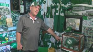 Saskatchewan Roughriders fan flips bedroom into shrine (05:03)