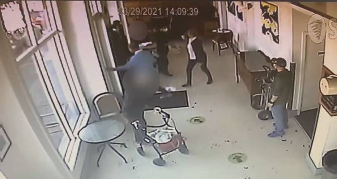 Click to play video: Anti-asian slurs caught on camera in Richmond coffee shop incident