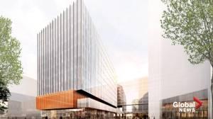 City of Montreal unveils redevelopment plan for Quartier des Faubourgs (01:29)