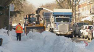 City of Montreal working hard to clear remaining snow from streets ahead of Tuesday's anticipated snowfall