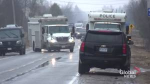 Heavy OPP presence in Havelock for search warrant (01:08)