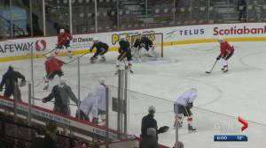 Calgary Flames feel the buzz around home opener