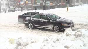 Winter storm leaves roads slick with snow in Quebec