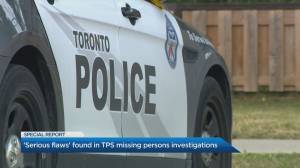'Serious flaws' found in TPS missing persons investigation (04:45)