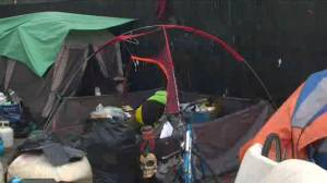 Kelowna's tent city moved from Leon Avenue to North End