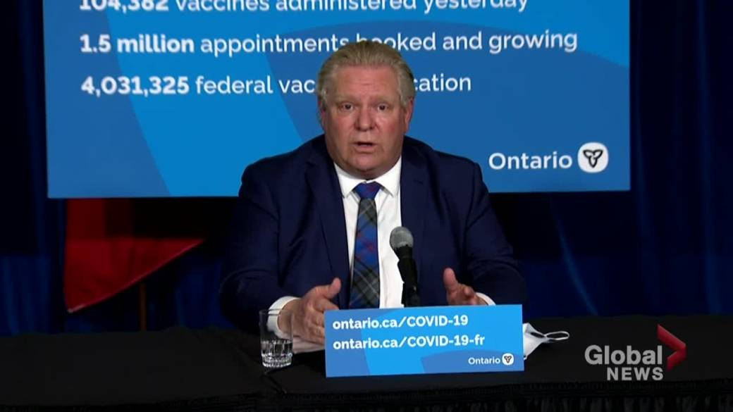 Click to play video: 'Ontario Premier Ford defends decision to not implement paid sick days'