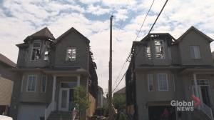 Lightning strike in Laval sets homes ablaze (02:03)