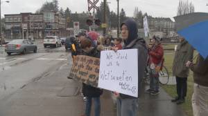 Protesters in support of Wet'suwe'ten hereditary chiefs vow to maintain blockades 'as long as it takes'