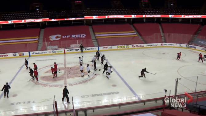 Click to play video: Canucks, Flames games rescheduled as players recover from COVID-19