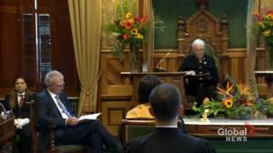 New Brunswick premier reveals first throne speech (02:01)