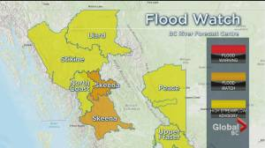 Flood warnings and watches in northwestern B.C. as rivers rise (02:27)