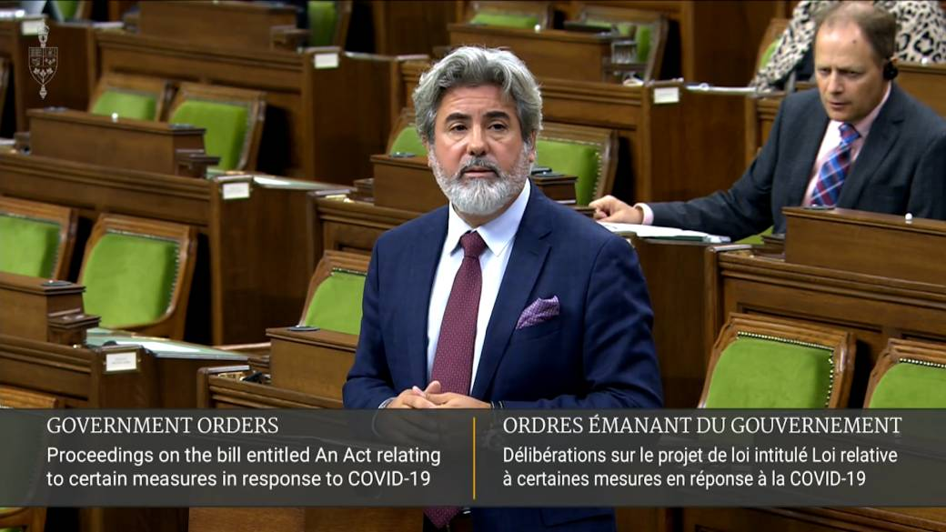 Click to play video 'Coronavirus: Liberals argue there is 'urgency' to pass Bill C-2 to help Canadians as CERB ends'